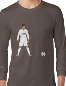 Cristiano Ronaldo Minimalist Design with ball Long Sleeve T-Shirt