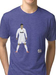 Cristiano Ronaldo Minimalist Design with ball Tri-blend T-Shirt