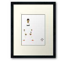 Cristiano Ronaldo Minimalist Design with ball Framed Print
