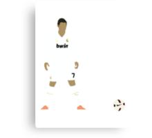 Cristiano Ronaldo Minimalist Design with ball Canvas Print