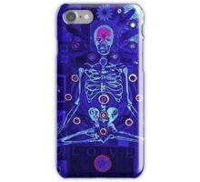 Meditating skeleton iPhone Case/Skin