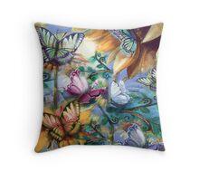 Butterflies in my Garden Pillow Throw Pillow