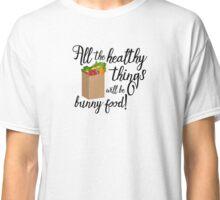 Fun Rabbit Shirt for the Grocery Store - Dark Classic T-Shirt