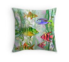Little Fish..Little Fish pillow Throw Pillow