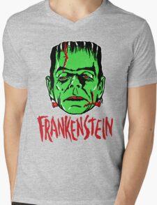FRANKENSTEIN - Vintage 1960's Style! Mens V-Neck T-Shirt