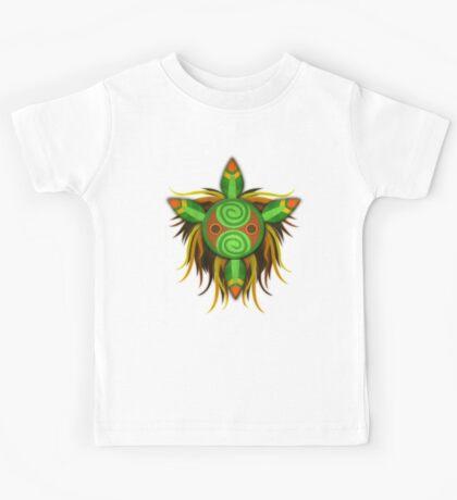 Leaf tribal mask. Kids Tee