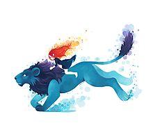 Lion Rider Photographic Print