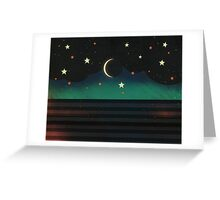 Abstract Moonscape Greeting Card