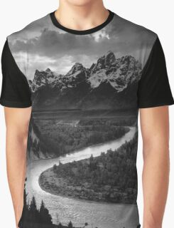 Ansel Adams - Grand Tetons and Snake River Graphic T-Shirt