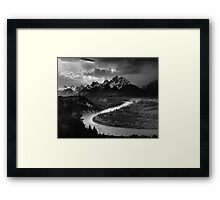 Ansel Adams - Grand Tetons and Snake River Framed Print