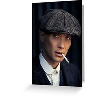 Cillian Murphy - Peaky Blinders - Tommy Shelby - Poster Greeting Card