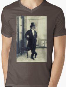 Distinguished Dog Mens V-Neck T-Shirt