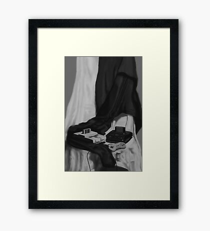 A Tale of Two Houses Framed Print