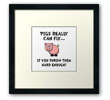 Pigs Fly Throw Framed Print