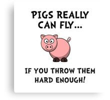 Pigs Fly Throw Canvas Print