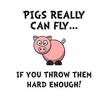 Pigs Fly Throw Photographic Print