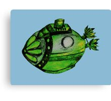 Submarine Lime Canvas Print