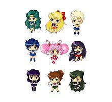 Chibi Sailor Scouts Photographic Print
