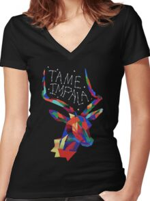 Tame Impala Deer Women's Fitted V-Neck T-Shirt