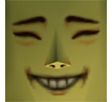 Happy Mask Salesman is Happy Photographic Print