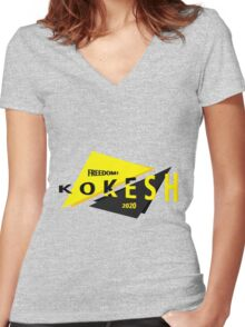 Abstract Kokesh 2020 Women's Fitted V-Neck T-Shirt