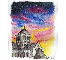 Abbaye de Lessay, France Poster