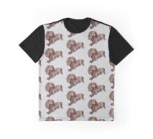 Dachshund Dog Pattern  Graphic T-Shirt