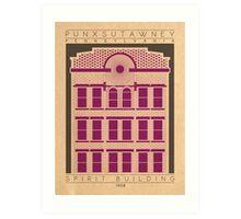 Spirit Building - 1908 (Purple) Art Print