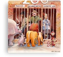 People I'd like to see locked up in a Zoo Canvas Print