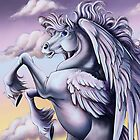 Cloud Pegasus Throw Pillow by cybercat