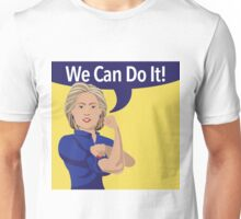 cartoon of Hillary Clinton as Rosie the Riveter Unisex T-Shirt