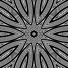 Black and White Kaleidoscope Design Pillow by red addiction