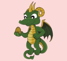 Cute little green dragon cartoon  Kids Tee