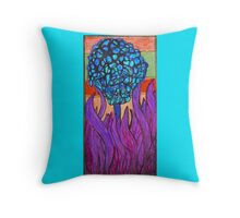Bloom in Purple Throw Pillow