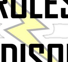 Tesla Rules Edison Drools Sticker
