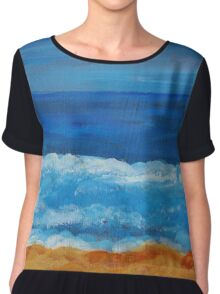 Afternoon Waves Chiffon Top