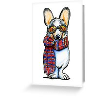 Cool Corgi Greeting Card