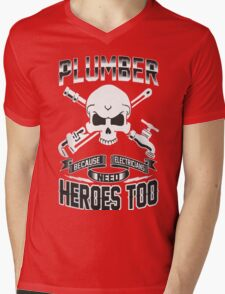 PLUMBER Mens V-Neck T-Shirt