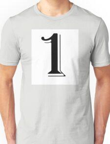 One black Unisex T-Shirt