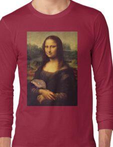 Mona Lisa Hedgehog Long Sleeve T-Shirt