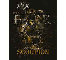 Mortal Kombat Scorpion get over here Photographic Print
