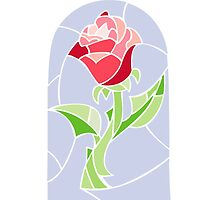 Stain Glass Rose - Beauty and the Beast by Lindsay Fulda