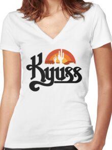 Kyuss Black Widow Women's Fitted V-Neck T-Shirt