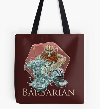 Dungeons and Dragons Barbarian Tote Bag