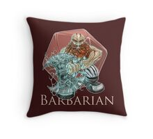 Dungeons and Dragons Barbarian Throw Pillow