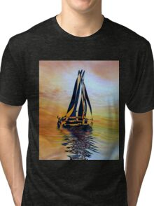 SAILING ON A SUMMER AFTERNOON, by E. Giupponi Tri-blend T-Shirt