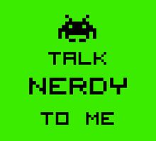 Talk nerdy to me Pillow 2 by supalurve