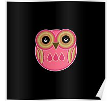 Pink Owl Poster