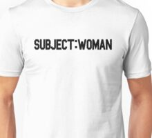 Subject: Woman Unisex T-Shirt