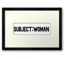 Subject: Woman Framed Print